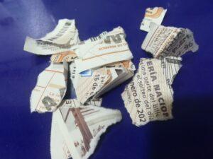 boleto loteria deteriorado que hacer