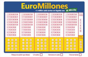 como rellenar boleto euromillones