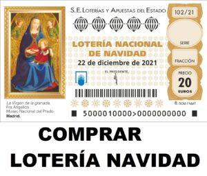 comprar online décimos de lotería de navidad 2021